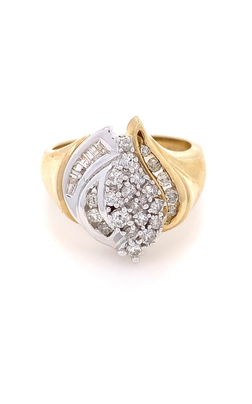 Sculptural Two Tone 10K Gold product image