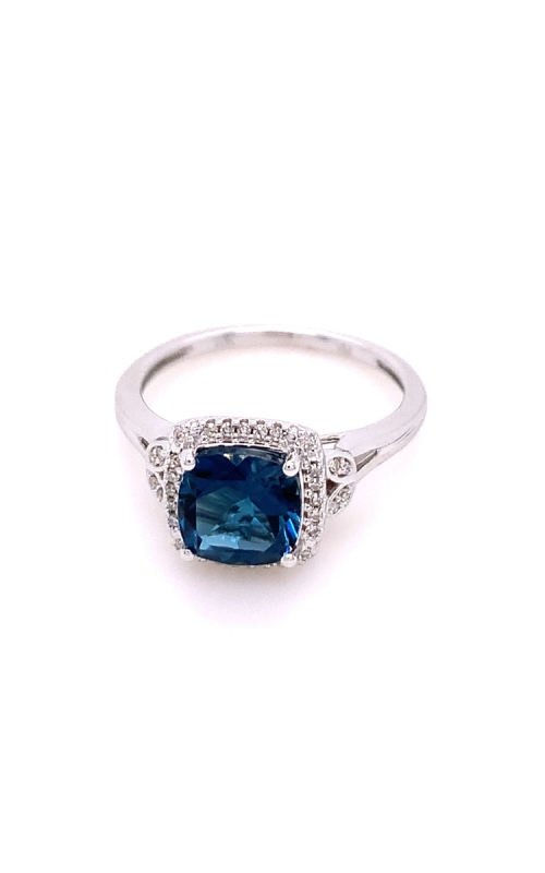 10k White Gold with Sapphire and Diamonds product image