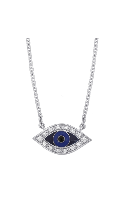 Evil Eye Necklace - White Gold product image