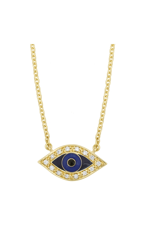 Evil Eye Necklace - Yellow Gold product image