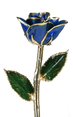 24KT GOLD DIPPED DARK BLUE ROSE - CGR9 product image