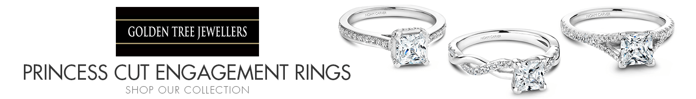 Princess Cut Engagement Rings at Golden Tree Jewellers