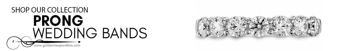 Prong Wedding Bands at Golden Tree Jewellers