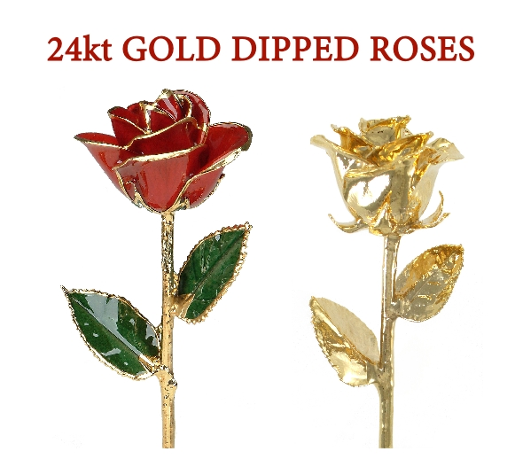 NEW - Roses dipped in 24kt Gold